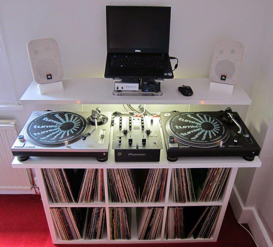 DJ Stand / Desk / Vinyl Storage Unit   My DJ Designs   Pinterest ...
