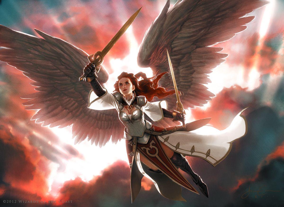Gisela Blade Of Goldnight Mtg Art Fantasy Art Warriors Wallpaper