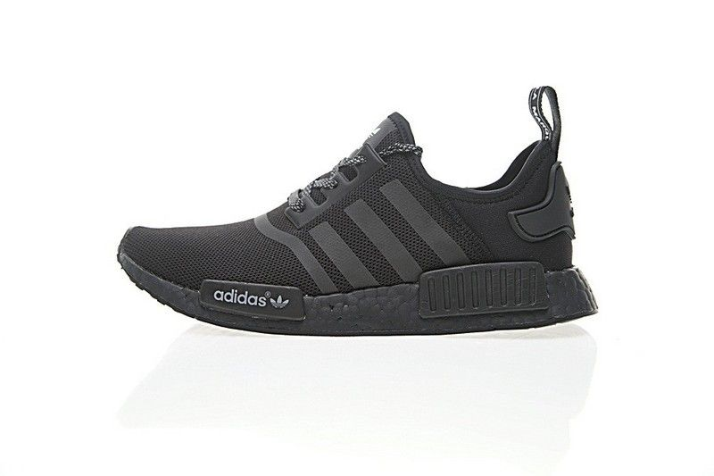 b02b1b192773 Cheap Unisex adidas NMD Custom R 1 Boost Triple Black BA7264 Shoes  Light-footed