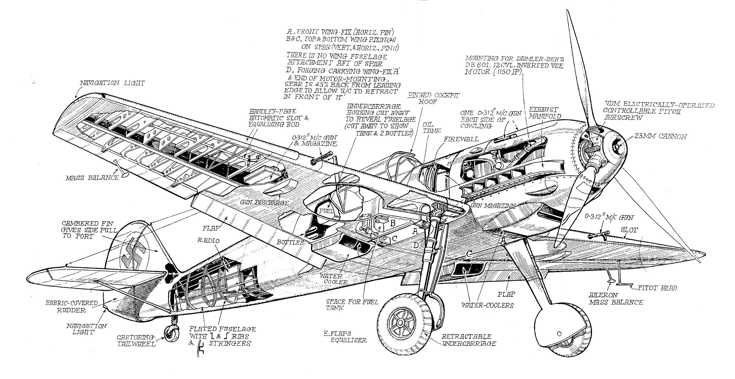 Messerschmitt Bf 109 Blueprints Background 1 Hd Wallpapers