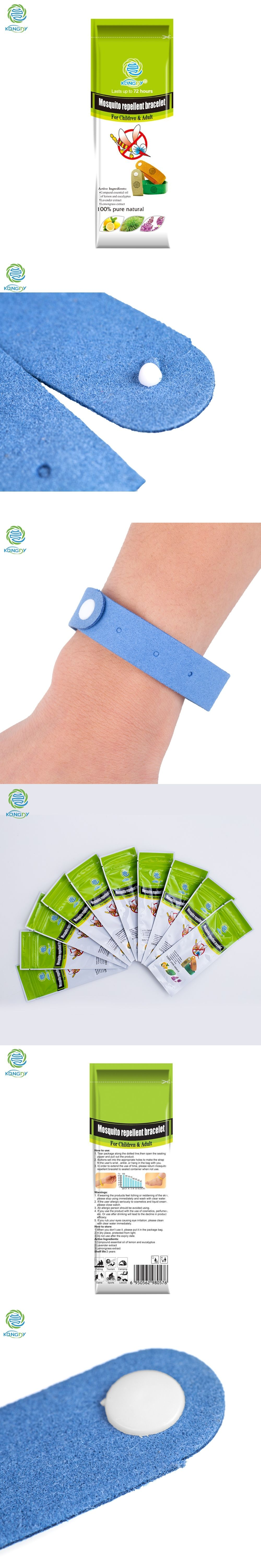 Kongdy Natural Citronella Mosquito Repellent Wristband 10 Pieces Bugslock Bracelet