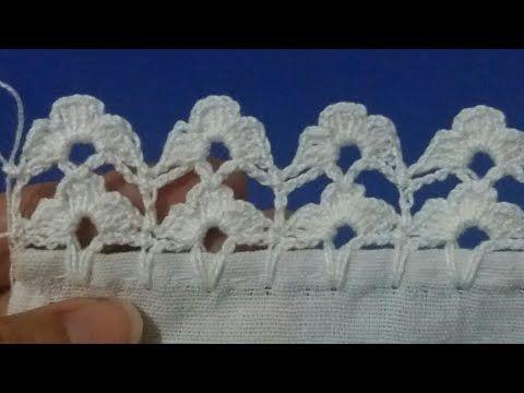 Barrado Em Croche Para Pano De Prato Toalhas Passo A Passo