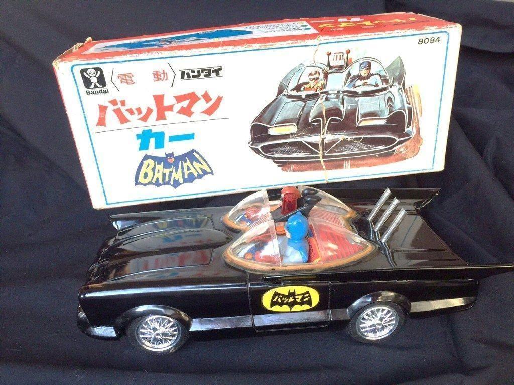 Toys car battery  Tin Toys Batman Batmobile Bandai  Vintage Tin Battery Operated
