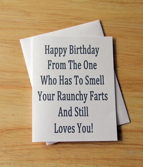 Birthday Card Boyfriend Gift For Him Fart