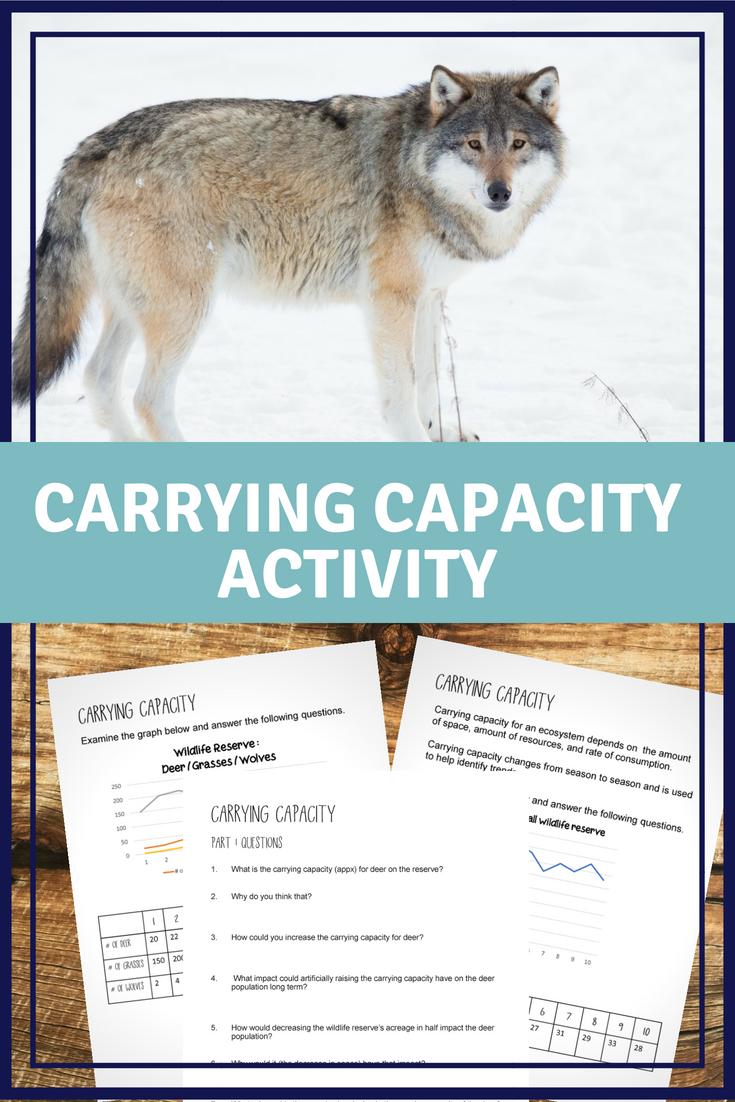 Carrying Capacity Worksheet | Pinterest | Worksheets, Teacher and ...