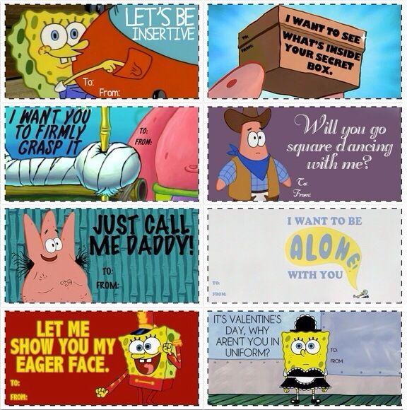 Spongebob Valentine S Day Cards Valentines Memes Spongebob Valentines