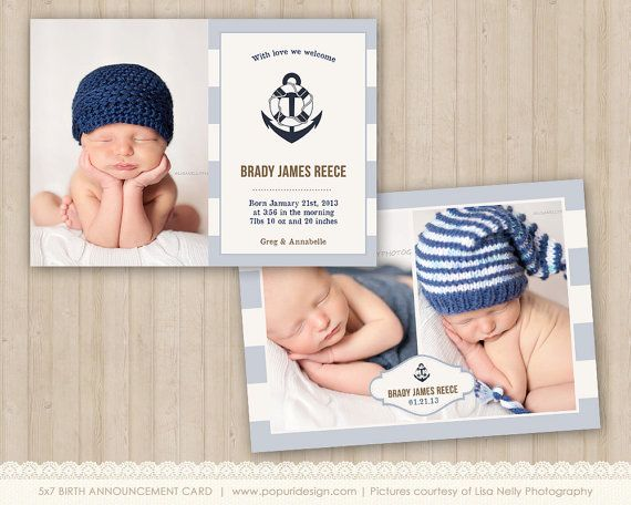 1000 images about Birth Announcements – Birth Announcement Boy