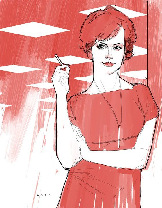 Mad Men's Joan Holloway by Phil Noto.