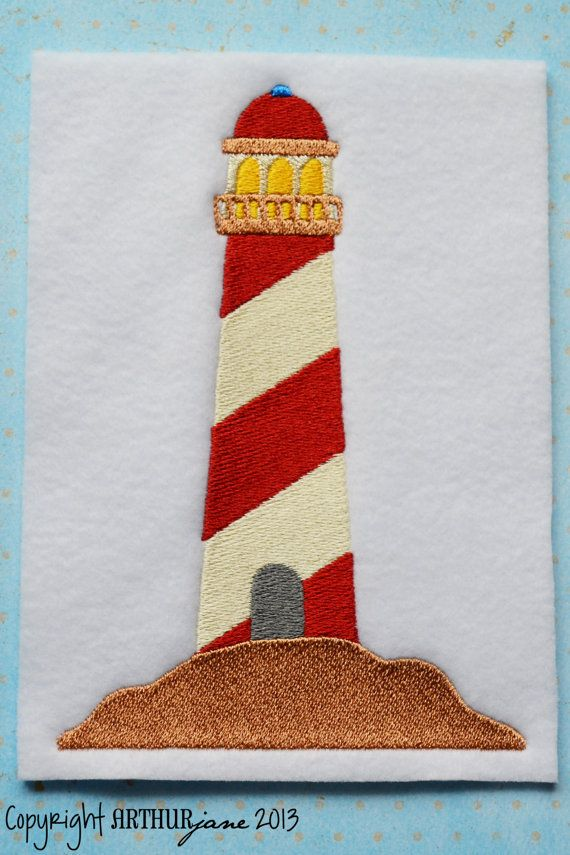 Lighthouse Nautical Embroidery Design for Machine by ARTHURjane, $5.99