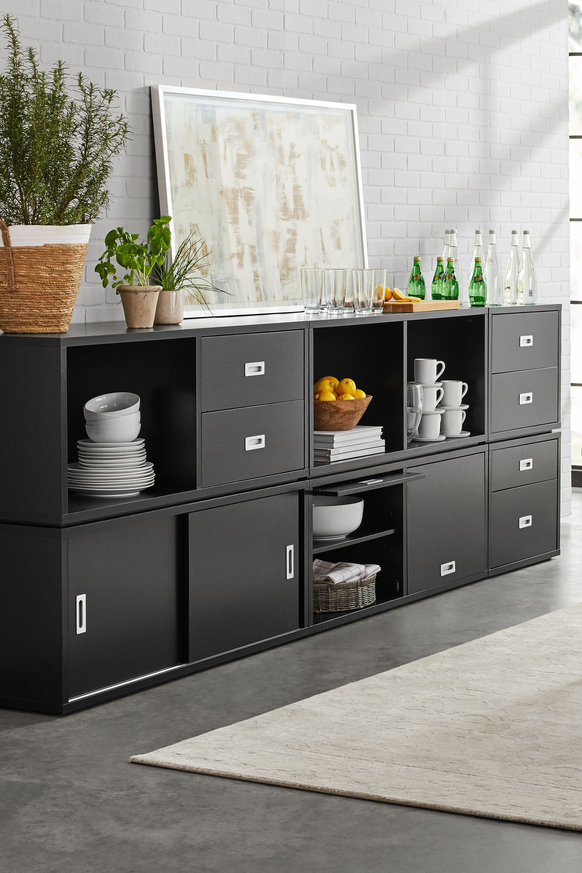 ludlow furniture collection black office storage