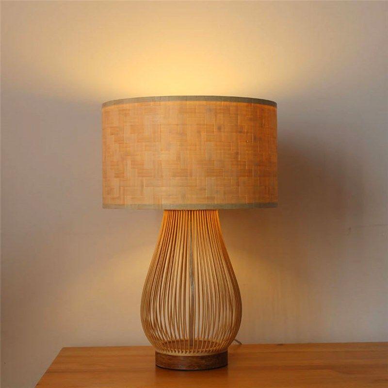 Japanese Vintage Table Lamp Creative Bamboo Desk Lamp Cozy Tearoom Study Room Lighting Vintage Table Lamp Table Lamp Lamp