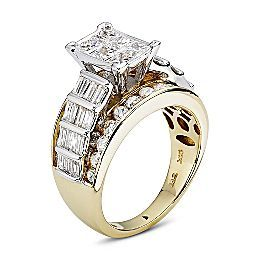 Spectacular jcpenney CT T W Diamond Engagement Ring