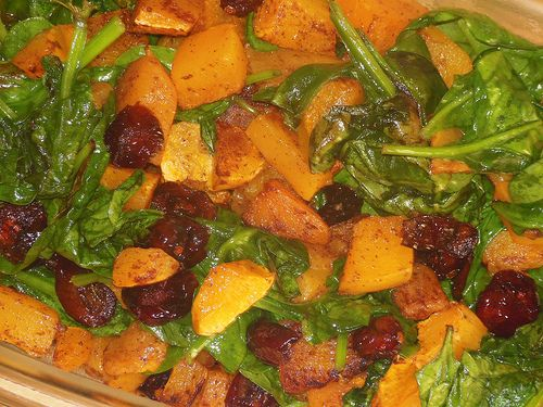 Cinnamon Butternut Squash and Spinach