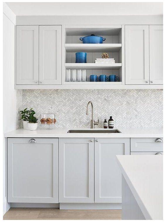 kitchen light grey cabinet