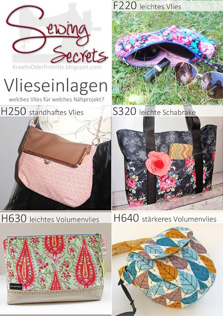Hilfe Anleitung Nähen Info Anfänger Vlies Taschen Accessories ...