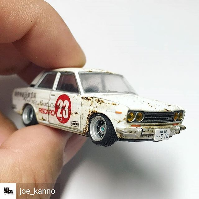 Reposted from @joe_kanno - . Past works. 2016. . Not for sale. .  #art_of_diecast  #realistic_rust  #realistic_rust_custom  #realistic_rust_effect  #datsun510  #164scale  #diecastcollection  #miniaturecar  #miniatureart  #artworks  #hotwheelscollector  #artcraft  #japanesecontemporaryart  #japaneseartist  #hotwheels  #tomicaaddict  #tomicalover  #tomicacollection  #diecastindonesia  #tomicaindonesia  #diecastcollectorindonesia  #tomicalimitedvintage - #regrann