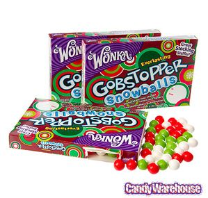 Christmas Everlasting Gobstopper Snowballs Candy 5 Ounce