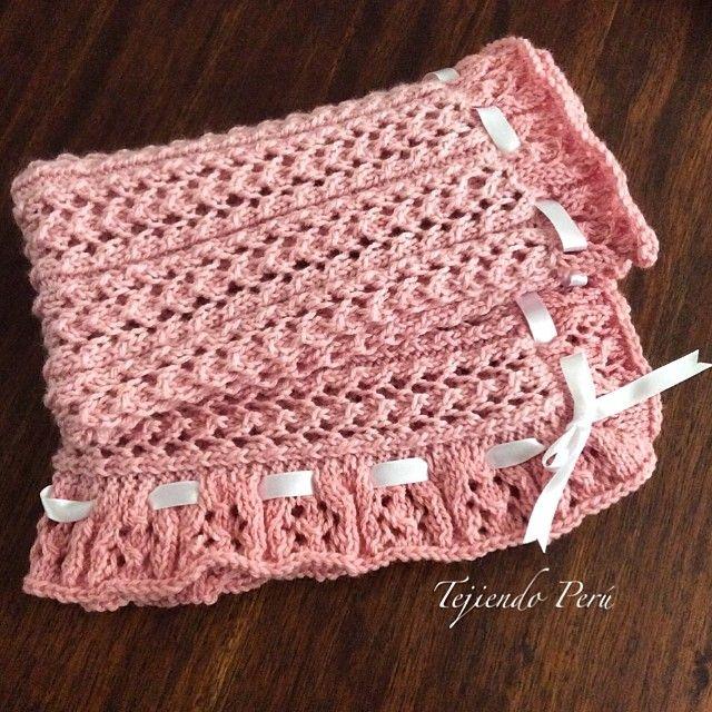 Cobija o manta para beb s tejida en dos agujas en el punto - Tejidos en dos agujas paso a paso ...
