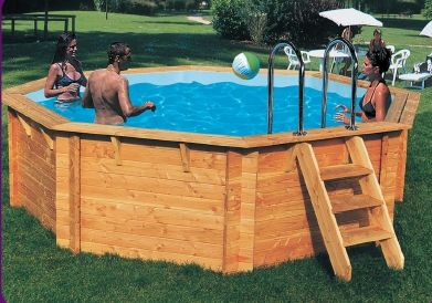 Beautiful Small Garden Swimming Pools | Small Octagonal Wooden Pool Ref Plumsmloct  Small Octagonal Wooden Pool .