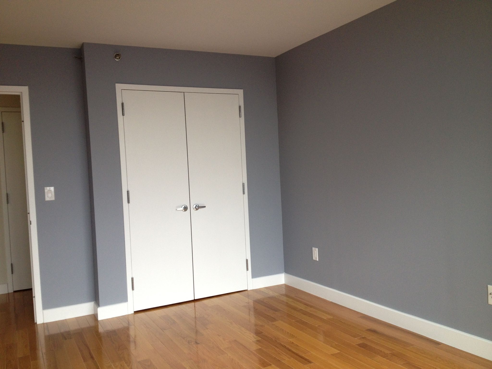 painted walls benjamin moore nickel gray paint colors. Black Bedroom Furniture Sets. Home Design Ideas