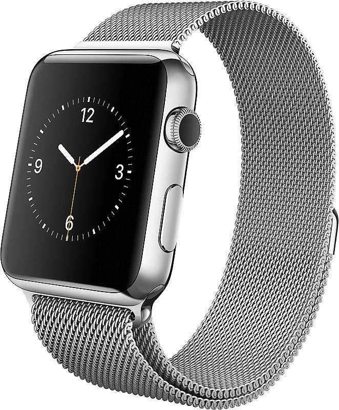 Apple Watch 42mm Mit Edelstahlgehause Milanaise Armband Watchos 2 Apfeluhr Wearables Apple Watch 42mm