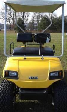 Yamaha G16 Custom Gas Golf Cart New Yellow Paint Job