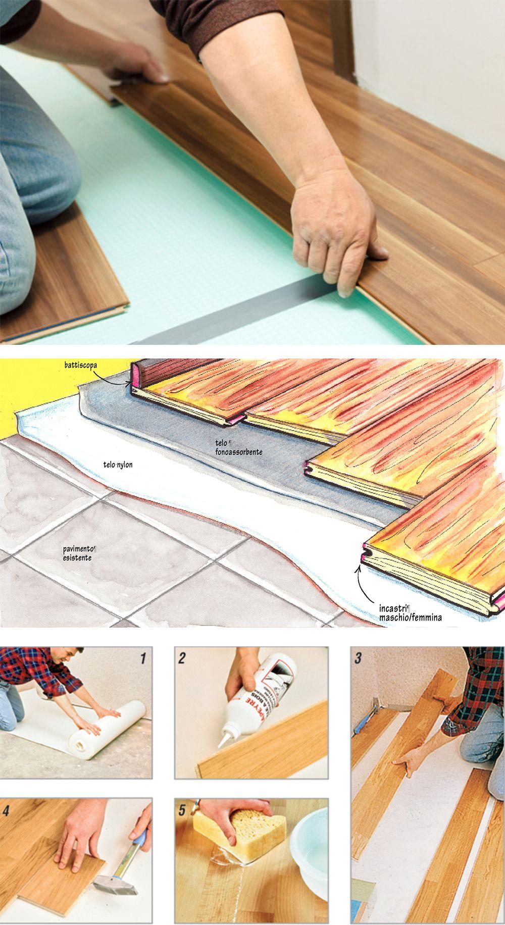 Come Montare Il Parquet Sul Pavimento parquet flottante (con immagini)   parquet, pavimentazione