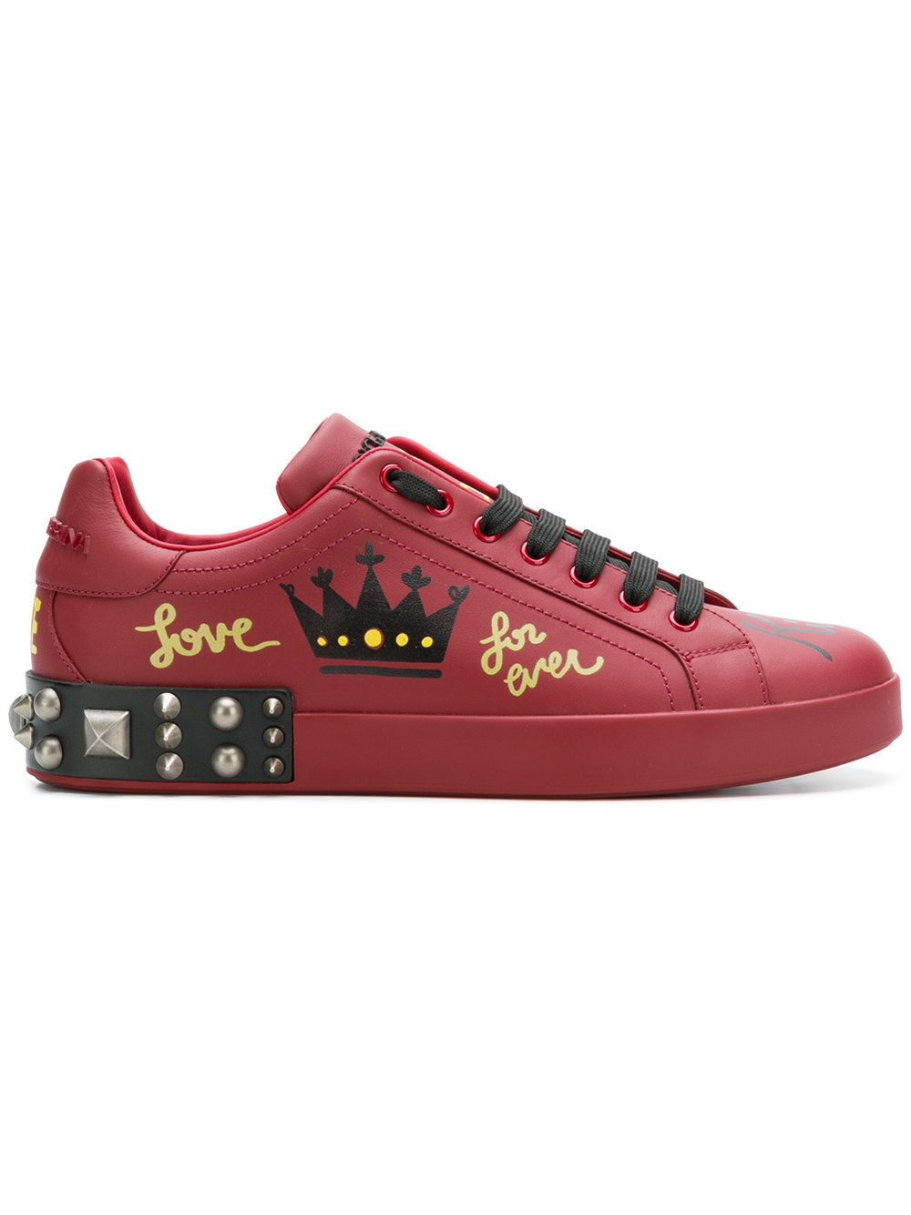 a999bd38 Dolce & Gabbana Printed studded sneakers | Shoes | Studded sneakers ...