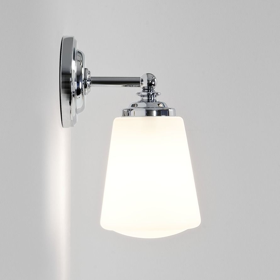 Anton wall light either side of sink finish polished chrome lamp finish polished chrome lamp included no lamp type wattage 1 x 40w max e14ses ip rating ip44 bathroom zone zone 2 3 class class aloadofball Image collections