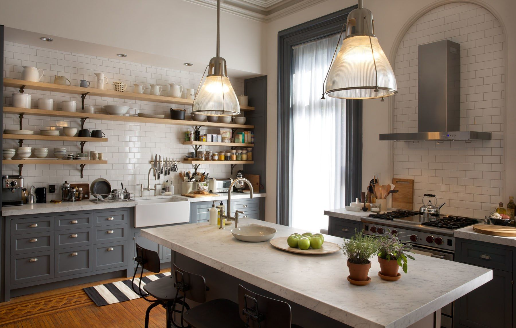 "Tour The Stylish Sets Of ""the Intern""  Set Design Architectural Captivating Brooklyn Kitchen Design Design Inspiration"