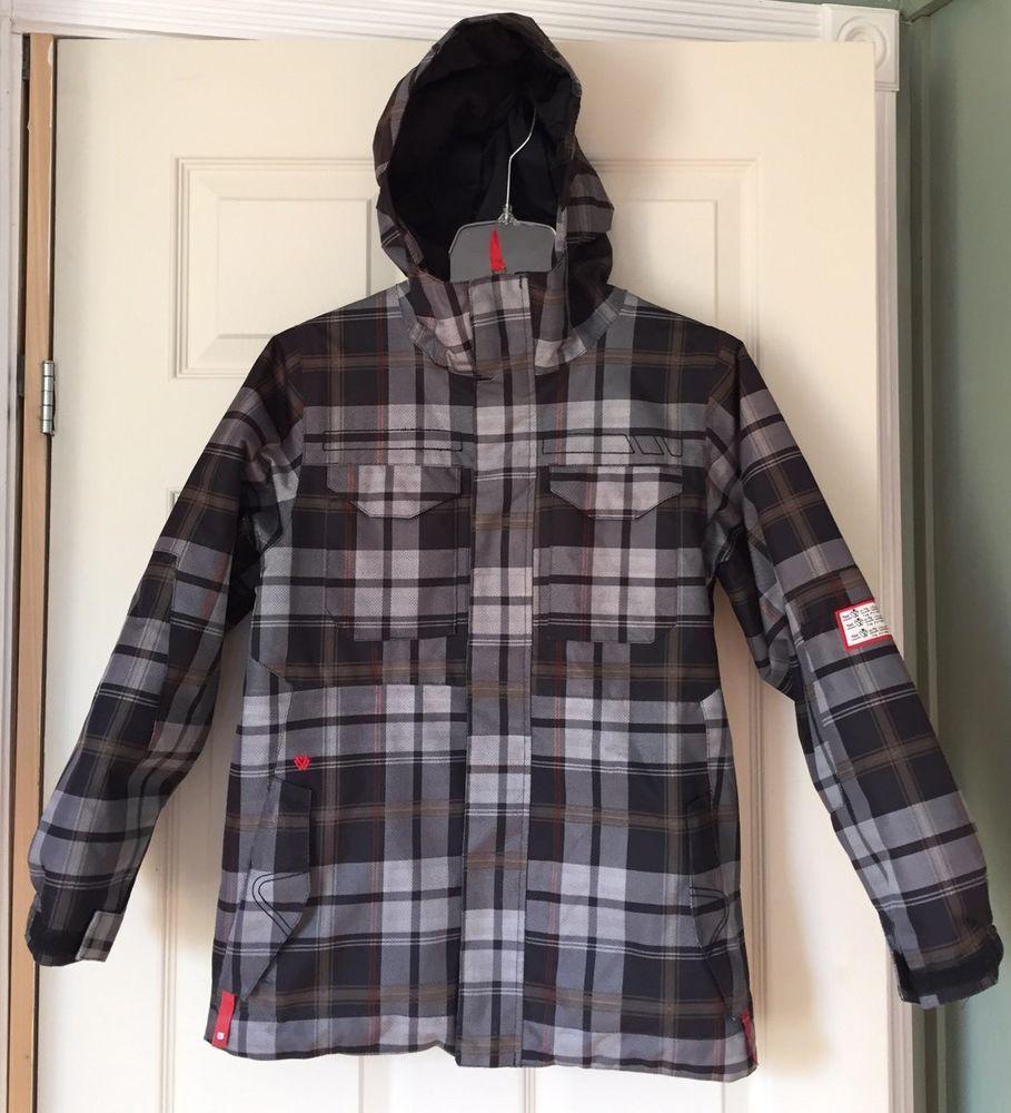 Burton All Access DryRide Insulated Waterproof Hooded Ski Boys Jacket sz L 10/12 #Burton #SkiJacket