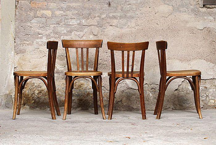 chaises de bistrot anciennes en bois