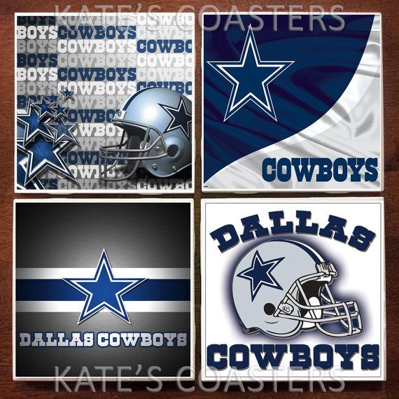 Set Of 4 Dallas Cowboys Nfl Ceramic Tile Coasters