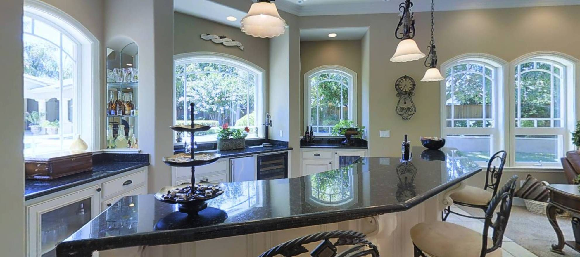 The gourmet kitchen would make any chef proud, featuring GE Monogram ...