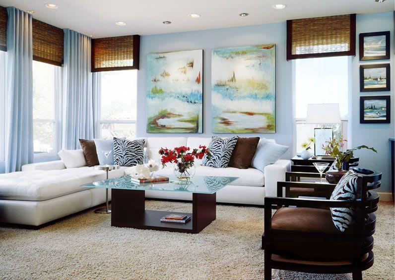 Beautiful Beach Inspired Modern Living Room. Love The Window Treatments. San  Diego Gallery Of