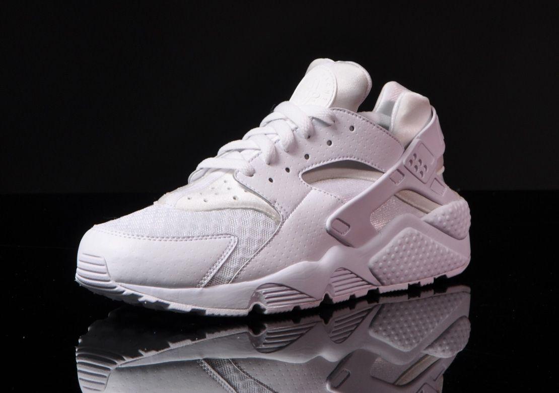 Nike Air Huarache White on White Detailed Pictures