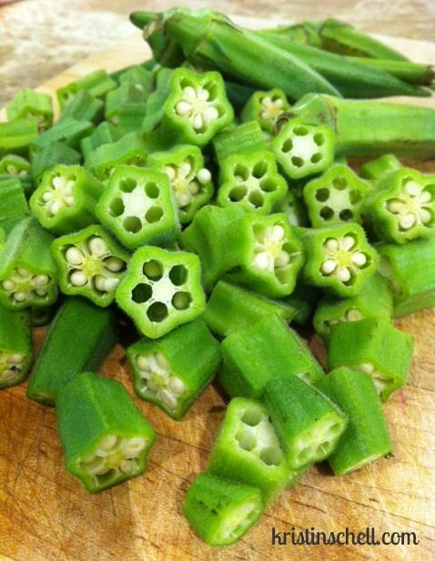 Home style Fried Okra from the garden