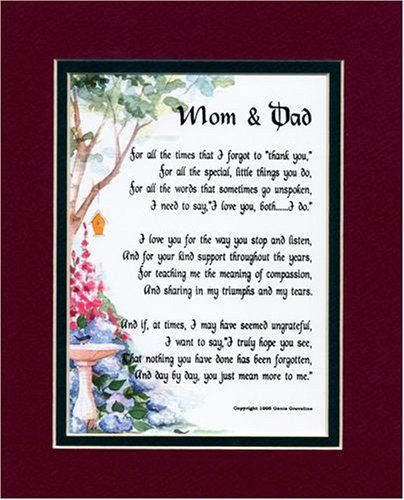50th Wedding Anniversary Poems For Mom And Dad: Father Of The Bride Gifts From Daughter