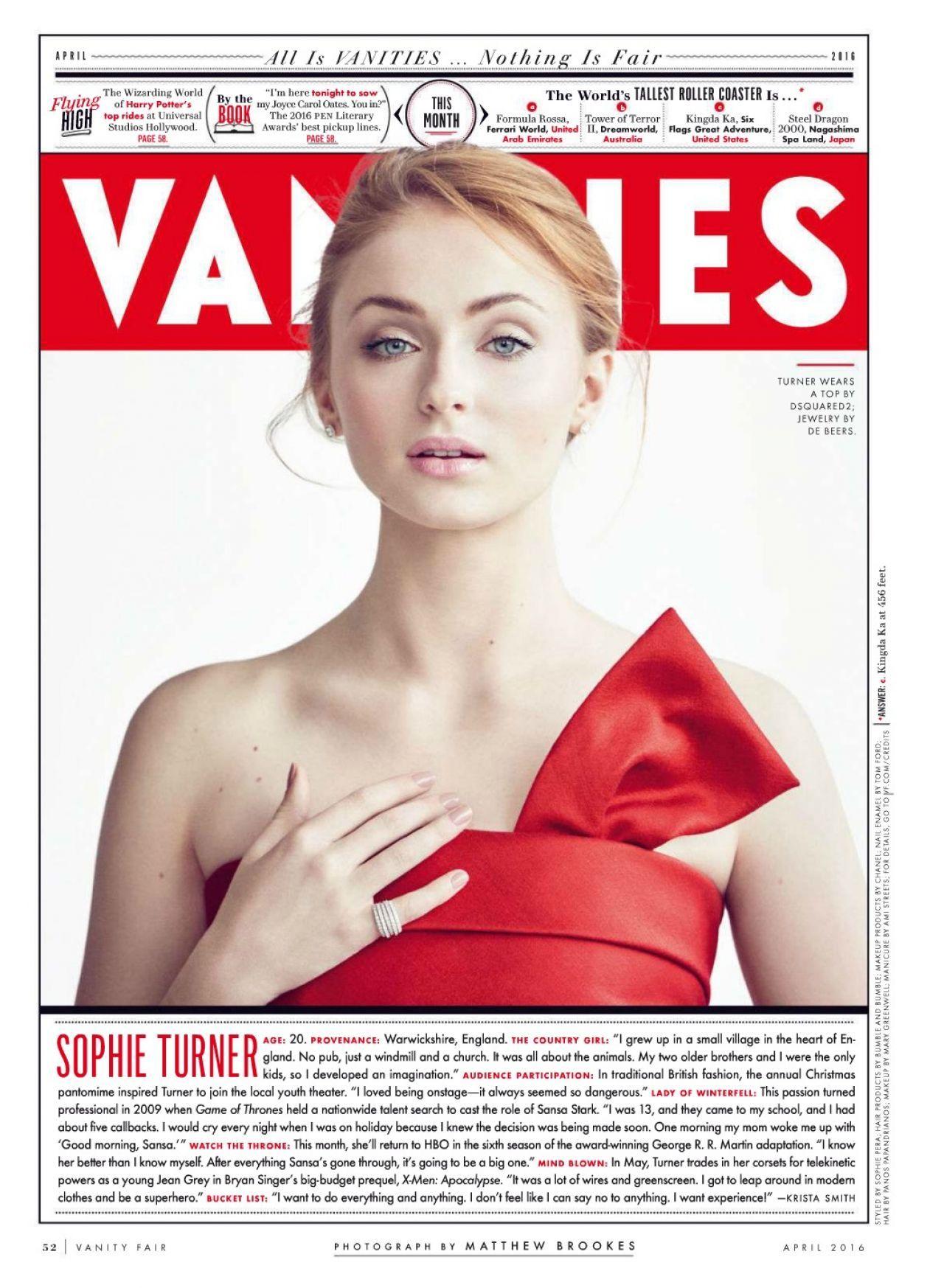 Superior Sophie Turner U2013 Vanity Fair Magazine April 2016 Sophie Turner #SophieTurner  #WhiteWalkersGOT #WhiteWalkersNET