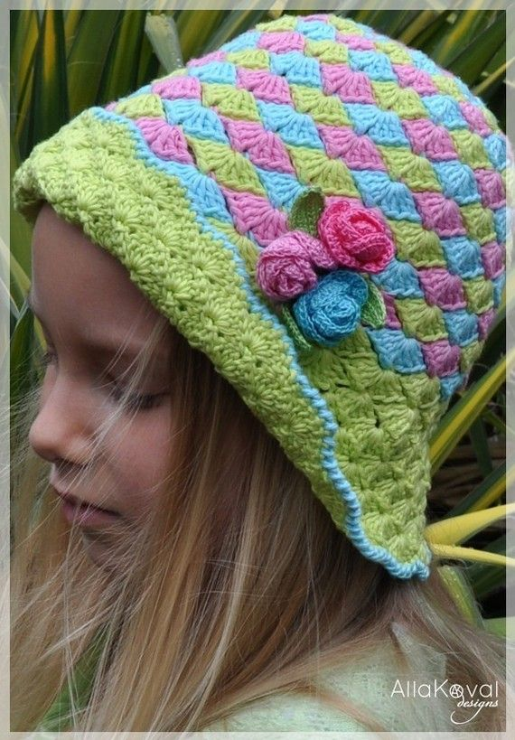 CROCHET PATTERN Rose Buds Crocheted Hat Pattern for Sizes Infant ...
