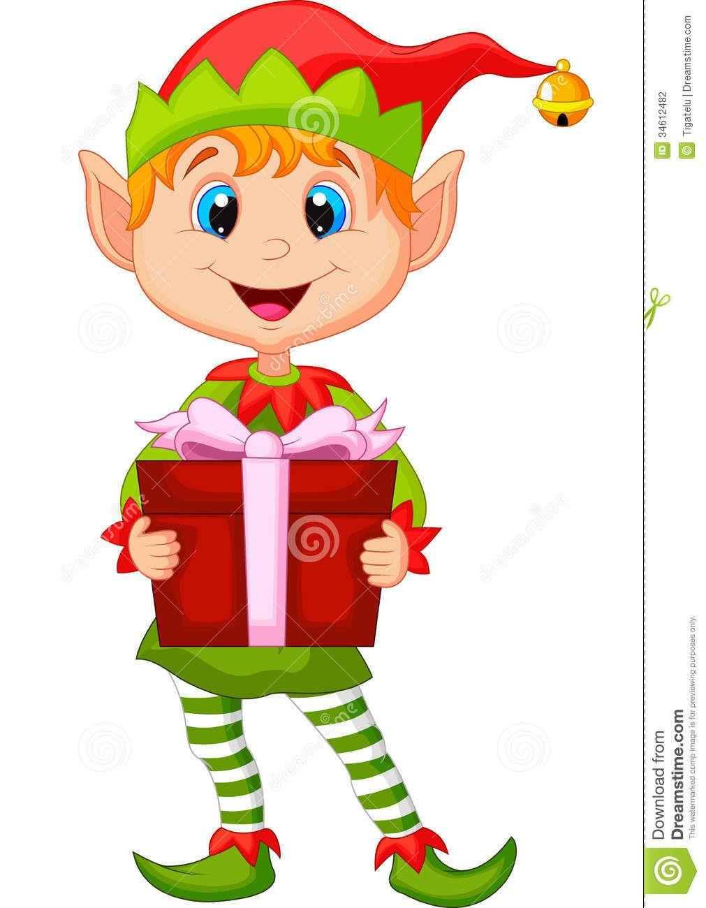 cute christmas elf cartoon holding gift illustration 34612482 jpg rh pinterest com cute christmas clipart pinterest cute christmas clipart free