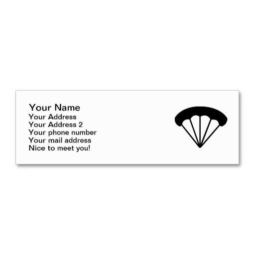 Parachute skydiving business card templates parachutist business parachute skydiving business card templates wajeb Images