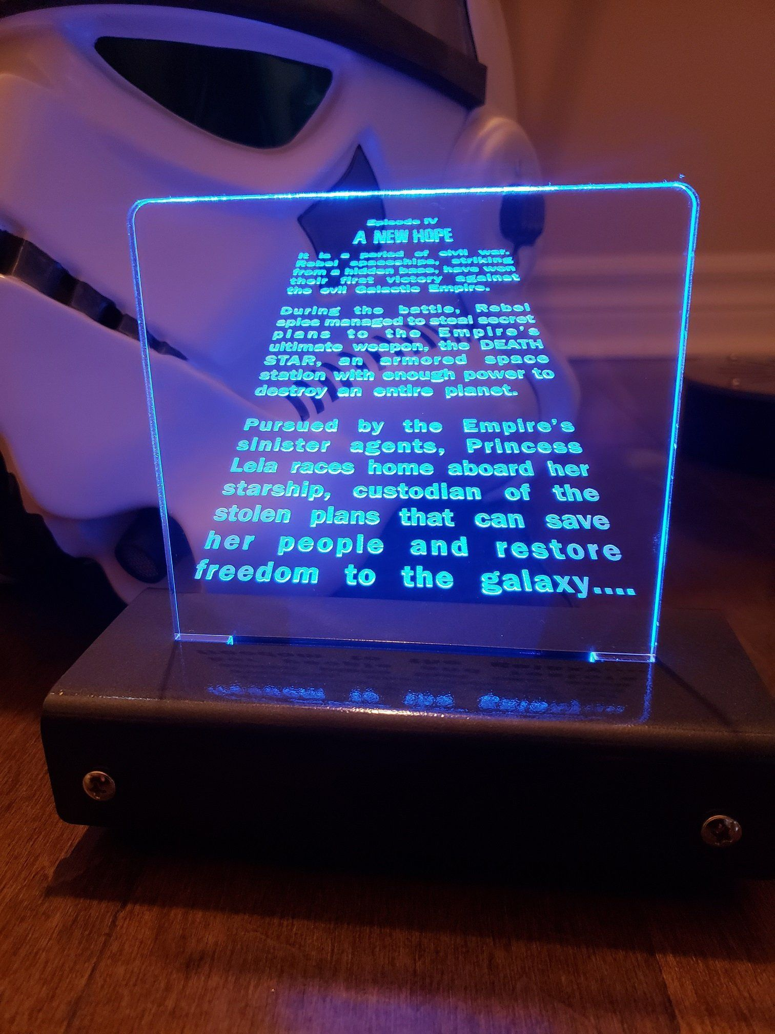 A New Hope opening credit crawl LED Display Opening