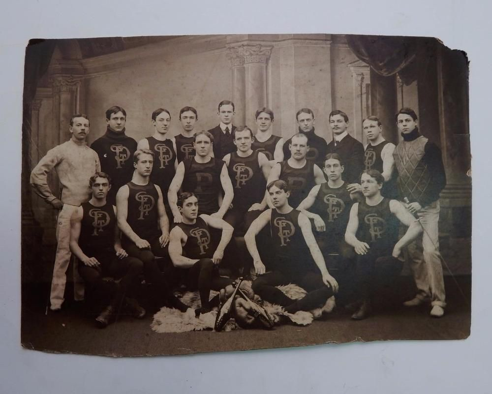 Antique Mounted Photo by Gilbert of Philadelphia Fencing