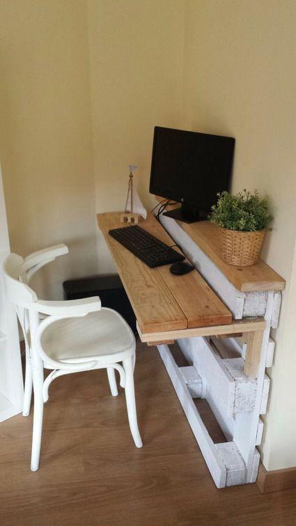 muebles palet | Manualidades fáciles | Pinterest | Escritorios ...