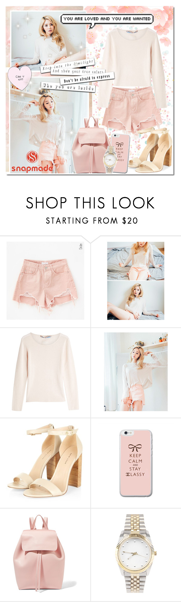 """""""Distressed Baby Pink // SnapMade"""" by angelstylee ❤ liked on Polyvore featuring 81 Hours and Mansur Gavriel"""