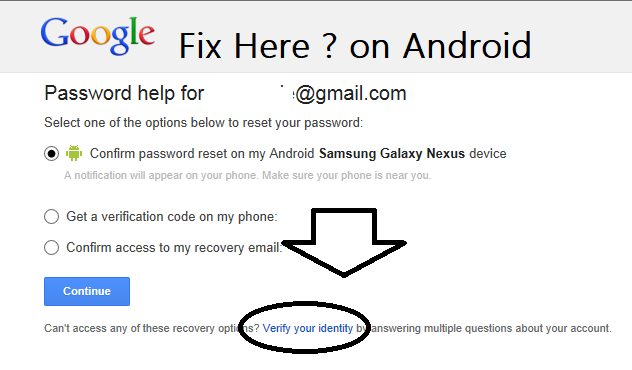 Get All Difficulty In Google Account Recovery For Android