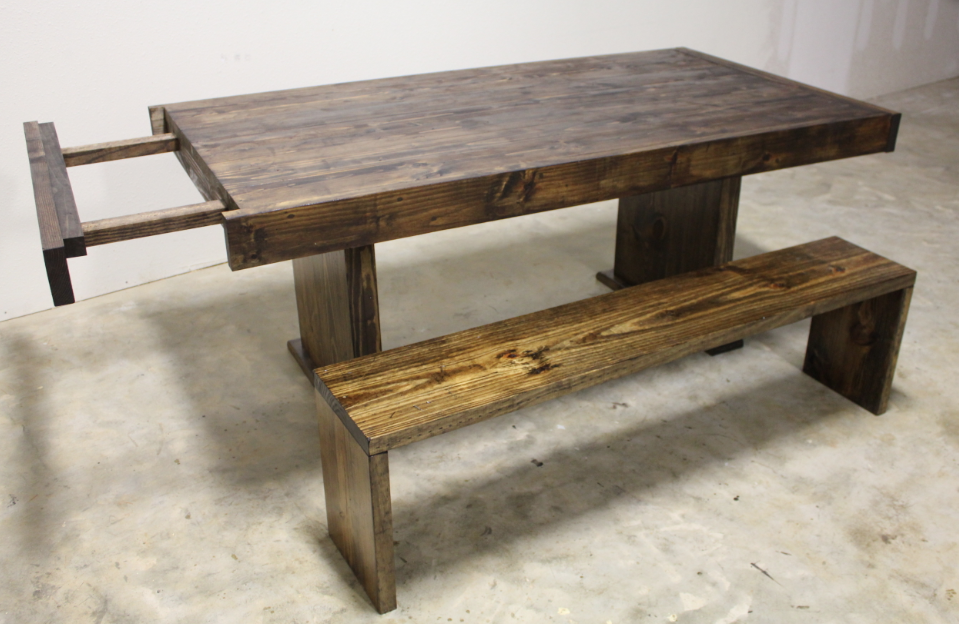 Incredible 6Ft To 8Ft Expandable Wood Farmhouse Table And Bench From Pabps2019 Chair Design Images Pabps2019Com