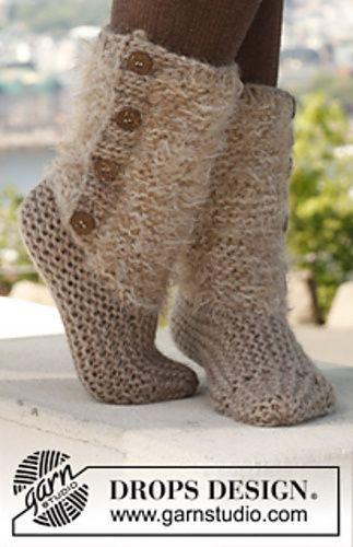 Moscow Slipper Boots Free Knitting Pattern Dress Me Pinterest