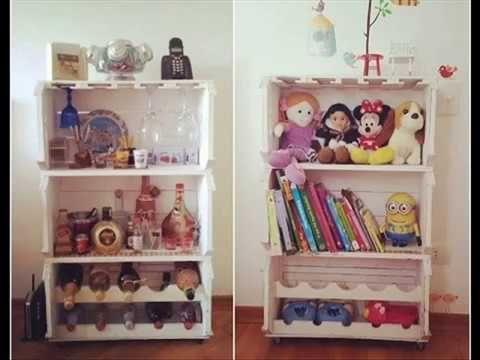 Decoração de quarto com caixas de madeira#decorarMoveisCaseiros #Tutoriais #PassoAPasso - YouTube #caixasdemadeira